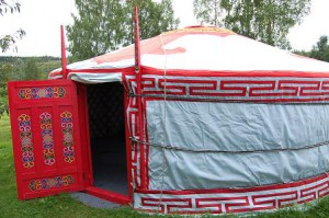 Röd jurta